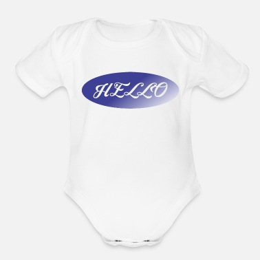 Greeting greet - Organic Short-Sleeved Baby Bodysuit