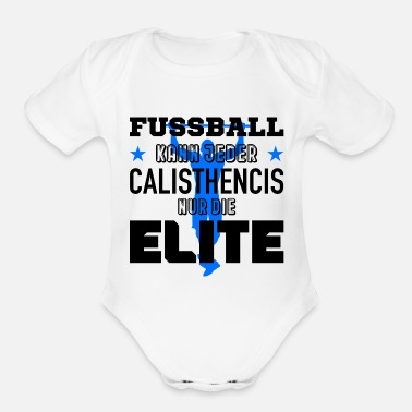 Provocation calisthenics soccer provocation - Organic Short-Sleeved Baby Bodysuit
