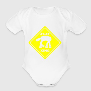 At crossing - Organic Short Sleeve Baby Bodysuit