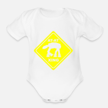Cross At crossing - Organic Short Sleeve Baby Bodysuit