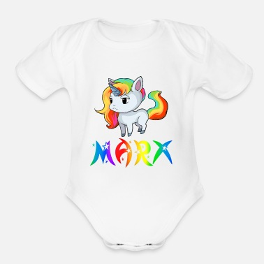 Marx Marx Unicorn - Organic Short-Sleeved Baby Bodysuit