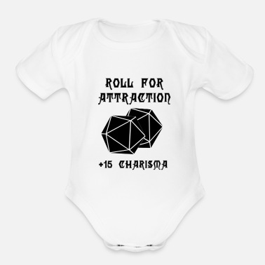 Attractive Roll for Attraction - Organic Short Sleeve Baby Bodysuit