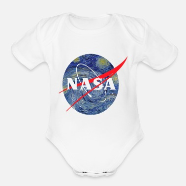 Nasa NASA starry night - Organic Short-Sleeved Baby Bodysuit