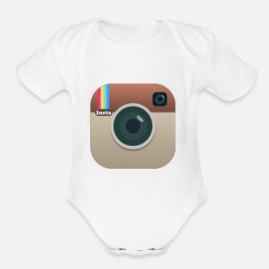 Social Media instagood - Organic Short-Sleeved Baby Bodysuit