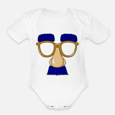 Mask mask - Organic Short-Sleeved Baby Bodysuit
