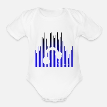 Rave EQUALIZER and Headphones - Organic Short Sleeve Baby Bodysuit