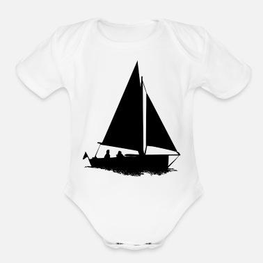 Sailboat sailboat - Organic Short Sleeve Baby Bodysuit
