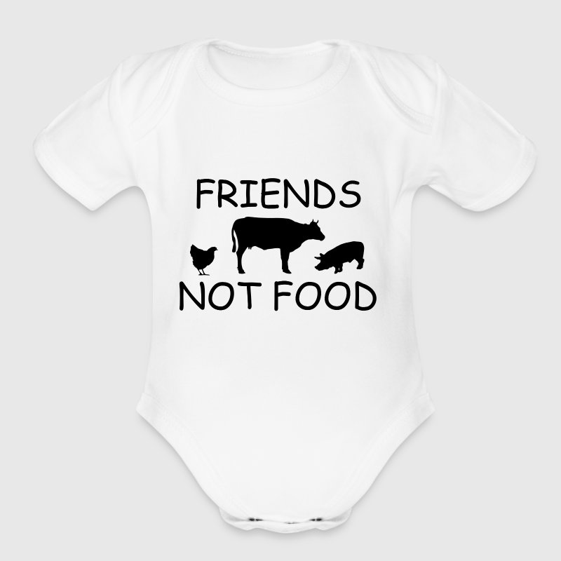 FRIENDS1.png - Short Sleeve Baby Bodysuit