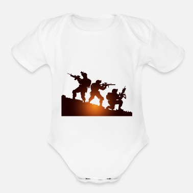 Military Military - Organic Short-Sleeved Baby Bodysuit