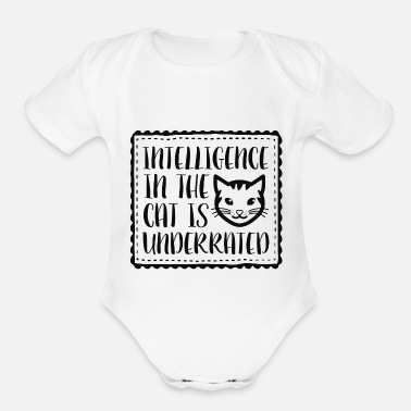 Intelligent Intelligence - Organic Short-Sleeved Baby Bodysuit