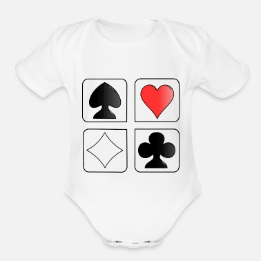 Playing Card playing cards - Organic Short Sleeve Baby Bodysuit