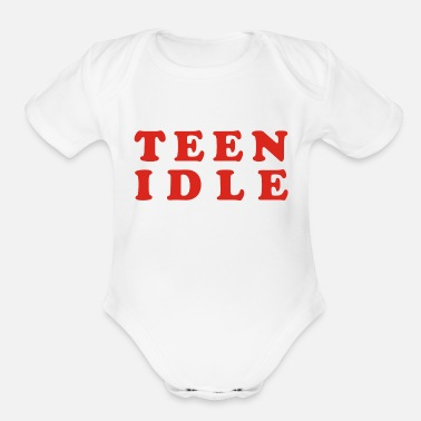 Teen Teen idle - Organic Short Sleeve Baby Bodysuit