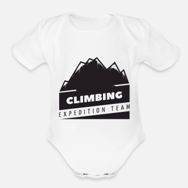 Clilmber Climbing expedition team - Organic Short-Sleeved Baby Bodysuit
