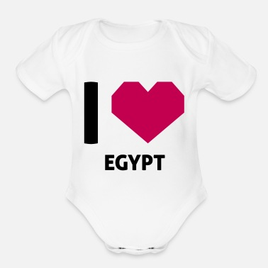 Egypt I Love Egypt - Organic Short-Sleeved Baby Bodysuit