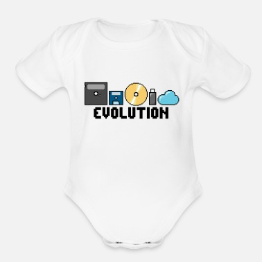 Storage Storage Evolution - Organic Short-Sleeved Baby Bodysuit