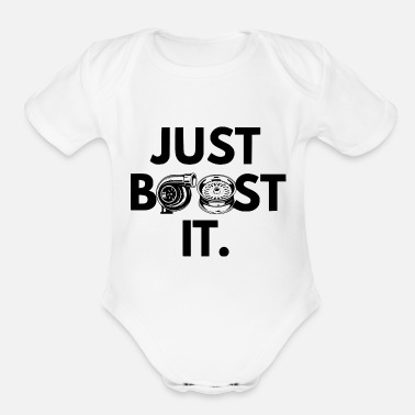 Boost JUST BOOST - Organic Short-Sleeved Baby Bodysuit