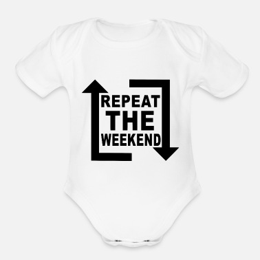 Electro repeat the weekend - Organic Short Sleeve Baby Bodysuit
