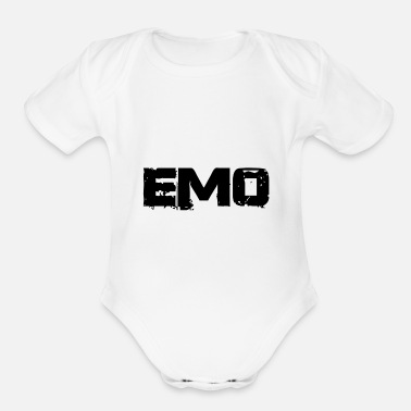 Emo emo - Organic Short-Sleeved Baby Bodysuit