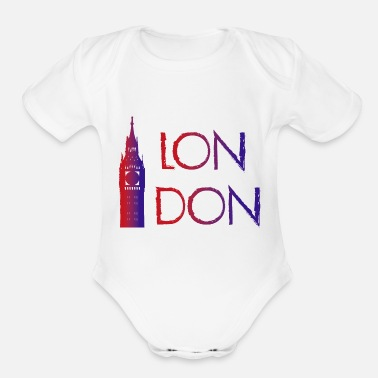 London London - Organic Short-Sleeved Baby Bodysuit
