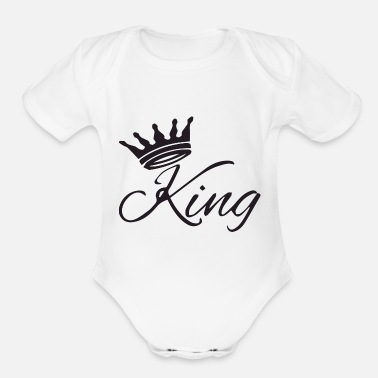 Playing the king - Organic Short Sleeve Baby Bodysuit