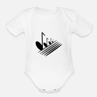 Musical staircase - Organic Short-Sleeved Baby Bodysuit