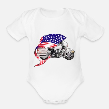 Motorcycle - Organic Short-Sleeved Baby Bodysuit