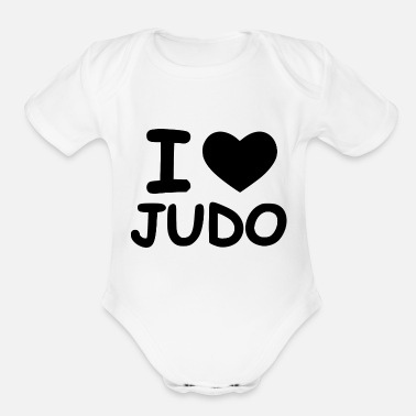 Punch time for judo - Organic Short Sleeve Baby Bodysuit