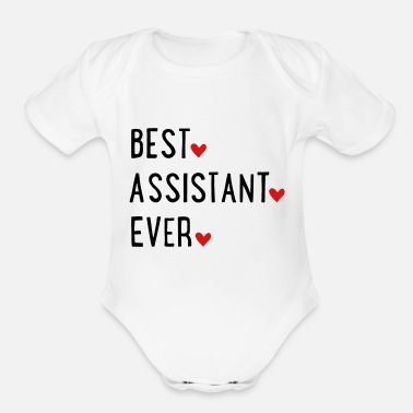 Assistant Assistant - Organic Short-Sleeved Baby Bodysuit