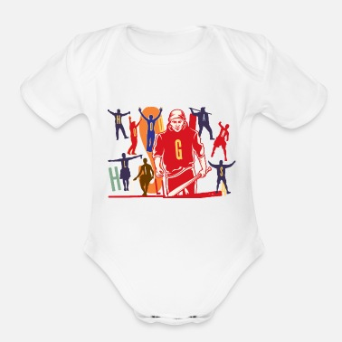 Renner Hooligans Silhouette Illustration - Organic Short Sleeve Baby Bodysuit