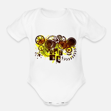 24/7/365 - Organic Short-Sleeved Baby Bodysuit