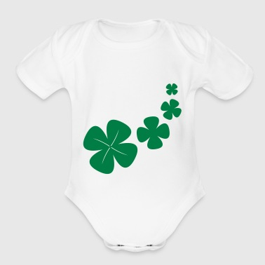 four-leaf clover as a lucky symbol - Organic Short Sleeve Baby Bodysuit