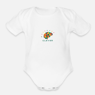 Clever CLEVER - Organic Short-Sleeved Baby Bodysuit