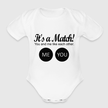 Match It's a match! - Organic Short Sleeve Baby Bodysuit