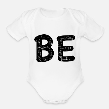 Just just be - Organic Short-Sleeved Baby Bodysuit