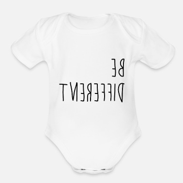 Different Be different - difference - Organic Short-Sleeved Baby Bodysuit