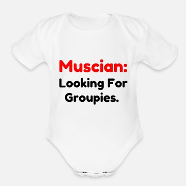 Groupie Musician Groupies - Organic Short-Sleeved Baby Bodysuit