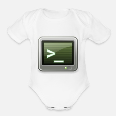 Command command - Organic Short-Sleeved Baby Bodysuit