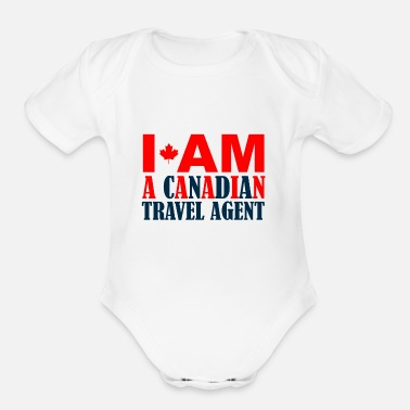 Travel Agent Canadian travel agent - Organic Short-Sleeved Baby Bodysuit