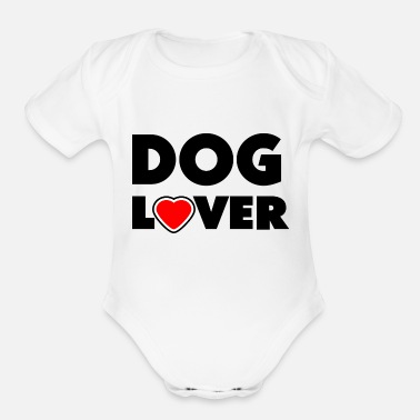 Dog Lover Dog lover - Organic Short-Sleeved Baby Bodysuit
