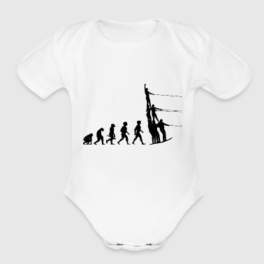 Water Sports Evolution Water Ski Water Sports - Organic Short Sleeve Baby Bodysuit