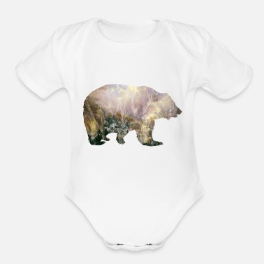 Bear Mountains Vintage Gift Idea - Organic Short Sleeve Baby Bodysuit