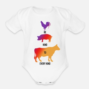 Be Kind Be Kind To Every Kind - Organic Short-Sleeved Baby Bodysuit