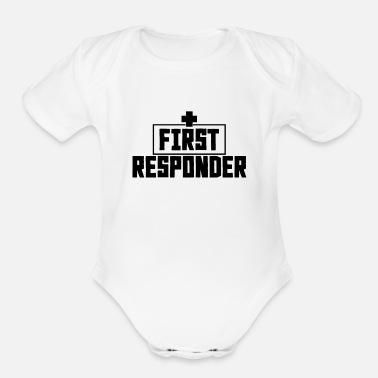 Rescue Services Paramedic Emergency Rescue Service - Organic Short-Sleeved Baby Bodysuit