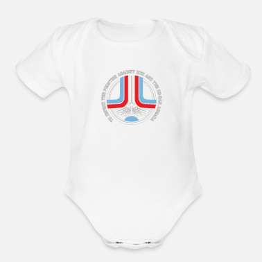 Greeting Greetings - Organic Short-Sleeved Baby Bodysuit