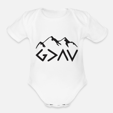 Greater God is Greater - Organic Short Sleeve Baby Bodysuit