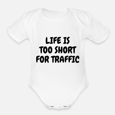 Traffic TRAFFIC - Organic Short-Sleeved Baby Bodysuit