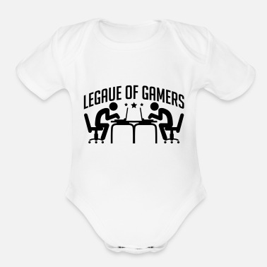 legue_of_gamers_be1 - Organic Short-Sleeved Baby Bodysuit