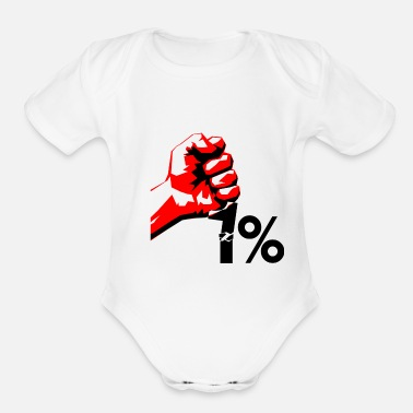 Occupy occupy - Organic Short-Sleeved Baby Bodysuit