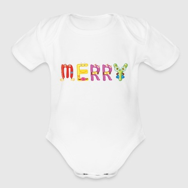 Merry - Organic Short Sleeve Baby Bodysuit