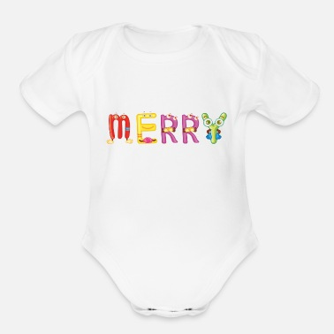 Merry Merry - Organic Short Sleeve Baby Bodysuit